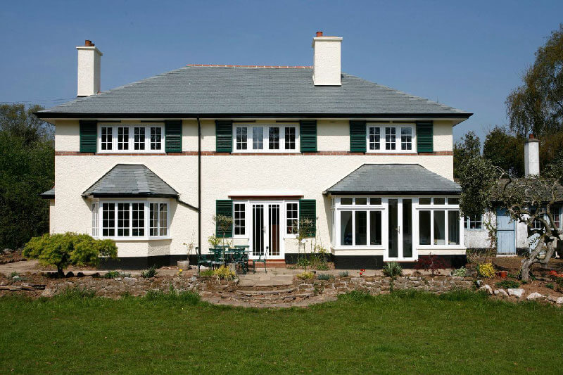 Large detached white house